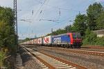SBB Cargo 482 031(i.E.für TXL) mit DGS 48265 (Bettembourg/L) Forbach/F - München-Laim Rbf, Dudweiler 22.08.14