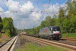 Siemens Dispolok 182 529 (i.E. für  TX Logistik) mit DGS 69226 (Bettembourg/L) Forbach/F - München Laim Rbf  am 14.05.14 in Dudweiler
