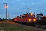 RBH 162 + 163 (140 789 + 140 815) mit GB 62305 Homburg(Saar) Hbf - Oberhausen West (Sdl.Schotter) , Homburg(Saar) am 15.05.14