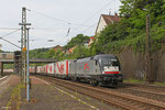 Siemens Dispolok 182 529 (i.E. für  TX Logistik) mit DGS 69440 (Bettembourg/L) Forbach/F - München Laim Rbf (Sdl.Marslogistik) am 21.05.14 Ausfahrt Saarbrücken Rbf