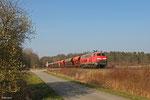 218 002 mit EK 55909 Rammelsbach Steinbruch - Einsiedlerhof am 14.03.14 kurz vor Landstuhl