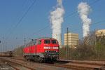 218 009 in Fürstenhausen am 13.03.2014