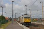 ECR 186 165 (schön sauber ;) mit XP 49213 Cerbere/F - Mannheim Rbf Gr.M am 27.04.14 im Grenzbahnhof Forbach/F (Personenbahnhof)
