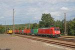 185 039 mit GC 44426 Mannheim Rbf Gr.G - Forbach/F (Woippy) (Sdl.Container), Dudweiler 20.08.14