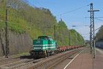 LDS 293 511 mit DBV 94255 Dudweiler - Saarbrücken Rbf Nord (Sdl. Baustellenlogistik) , am 10.004.14 Hp Jägersfreude