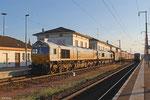 ECR 77 001 (im Schlepp ECR 77 040) mit 41213 Vittel/F - Forbach/F (Mineralwasser Vittel Nestlé, Ziel Worms Hafen), Forbach 07.08.14