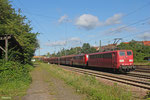 DT RBH 267 (151 144) + RBH 268 (151 004) mit GM 60499 Oberhausen West Orm - Neunkirchen(Saar) Hbf, Saarbrücken-Burbach 19.08.14