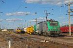 SNCF FRET BB37009 mit EZ 44270 Saarbrücken Rbf West - Woippy/F (EV, Zug für die Beförderung aussergewöhnlichen Sendungen) , Forbach Triage 26.06.14