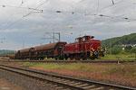 Vulkan-Eifel-Bahn V60 1184 rangiert am 21.05.14 gegen 20:30 Uhr in Ehrang