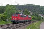 RBH 162 + 163 (140 789 + 140 815) als T 67125 Homburg(Saar) Hbf - Saarbrücken Hbf am 15.05.14 in Scheidt