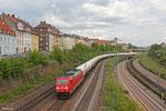 185 236 mit XP 49247 Creutzwald/F - Hüls AG (Netzwerkbahnzug, EV mit Übergang bis Dormagen oder Ludwigshafen) am 23.04.14 in Saarbrücken- Malstatt
