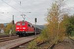 151 029 mit GA 98980 (Kolin) Gemünden(Main) - Forbach/F (Gevrey) (Sdl.PKW, ex GA 47290), Hochspeyer 20.10.14