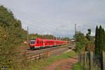 612 124 + 612 006 als RE 3334 Mainz Hbf - Saarbrücken Hbf, Dudweiler 13.10.14