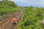 294 843 bringt Halbzeug zur Burbacher Hütte , Saarbrücken Güterumfahrung am 11.05.14