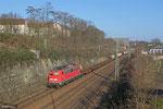 140 858 mit KT 44434 (Bayonne) Forbach/F - Köln-Eifeltor Bez.III (Sdl.KV) , 12.03.14 Güterumfahrung Saarbrücken