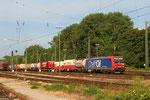 26.07. - Karlsruhe Gbf , SSB Cargo 482 028 mit Containerzug Richtung Basel