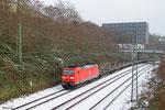 185 035 mit GB 62210 Saarbrücken Rbf Nord - Saarlouis Hbf (Sdl.leere Sps/Eaos), Saarbrücken 30.12.14