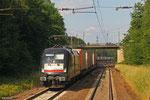 """Dispolok 182 597 (i.E.für TX Logistik) mit """"Marszug"""" München - Bettembourg , Landweiler Reden 24.06.14"""