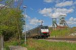 MRCE DT 189 990 + 189 992 (i.E. für SBB Cargo) mit DGS 41463 (Maasvlakte/NL) Emmerich Grenze - Fürstenhausen (Sdl. Kohle) am 09.04.14 in Luisenthal(Saar)