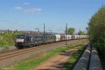 DT 189 209 (ERS Railways) + 189 107 (SBB Cargo) mit DGS 95705 (Maasvlakte) Merzig - Fürstenhausen (SBB Cargo Sdl.Kohle, ex. DGS 41461) am 16.04.14 bei Gersweiler-Ottenhausen