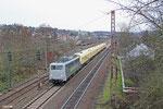 RADVE 139 558 mit fünf GE PowerHaul aus dem türkischen Schienenfahrzeugwerk Tülomsaş  , Sulzbach(Saar) 13.12.14