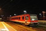 Kurhessenbahn 628 223 zur Nachtruhe in Dillingen(Saar) abgestellt , 11.10.14