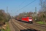 186 337 mit EZ 98802 (Irun/E) Forbach/F - Mannheim Rbf Gr.M am 13.03.14 in Saarbrücken St.Johann