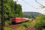 07.07. - Saarbrücken St.Johann , DT 185 141 + 185 158 mit GC 44400 (Hegyeshalom) Salzburg Hbf - Saarbrücken Rbf Nord (Sarralbe)