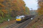 """ECR 77 004 mit EZ 44422 Saarbrücken Rbf West - Forbach/F (Gretz-Armainvilliers / Tournan ) am 12.11.13 in Saarbrücken (Sdl. """"Weiße Ware"""")"""