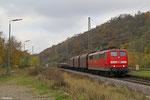 151 020 mit EK 55975 Völklingen Walzwerk - Saarbrücken Rbf Nord, Luisenthal(Saar) 13.11.14