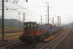 SNCF Infra 8008 mit Spritzzug in Béning/F