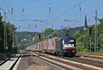 """182 597 (i.E.für TXL) mit """"Marszug"""" von Bettembourg nach München Riem am 13.06.14 in Dudweiler"""