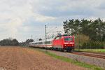 120 147 mit IC 2055 Saarbrücken Hbf -Heidelberg Hbf am 16.04.2013 bei Vogelbach