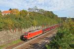 185 182 mit GM 98806 Saarbrücken Rbf West - Beddingen VPS (Sdl.Walzdraht in Ringen, ex.62832), Saarbrücken 12.10.14