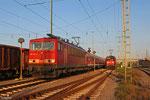 155 107 mit EZ 52168 nach Koblenz-Lützel Nord (EV, Überführung von zwei Wagen von DB Regio Franken von Würzburg nach Ehrang), Mannheim Rbf Gr.G 16.07.14