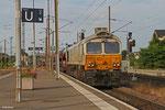 ECR 77 014 mit EZ 49268 Einsiedlerhof - Villers-Cotterêts/F , Forbach Personenbahnhof am 01.07.14
