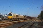 """ECR 77 008 mit """"VW-Zug"""" EZ 49268 Einsiedlerhof - Forbach/F (Villers-Cotterêts) am 11.03.14 in Einsiedlerhof"""