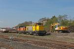 SNCF Infra BB64606 und BB64628 am 11.04.14 in Forbach/F