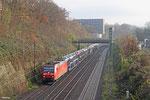 185 147 mit EK 55980 Saarbrücken Rbf West - Fürstenhausen, Saarbrücken 08.12.14