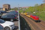 EBM Cargo 140 070 mit DBV 95275 auf der Saarbrücker Güterumfahrung am 11.04.14