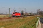 186 335 mit EZ 51908 Mannheim Rbf Gr.G - Saarbrücken Rbf Nord am 14.03.14 bei Vogelbach