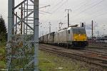 ECR 186 312 mit GA 44416 (Cerbere) Forbach/F - Mannheim Rbf Gr.K (Sdl.Auto/Autoteile, Wagen des wegen Streiks ausgelegten XP 42259), Forbach 16.10.14