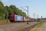 """SBB 482 044 (i.E.für HSL) mit """"Stahlzug"""" , Endsdorf 18.07.14"""