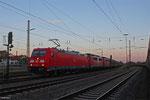 185 362 und im Schlepp RBH 164 + RBH 163 (140 797 + 140 815) mit GM 48770 Dillingen Zentralkokerei - Oberhausen West Orm (Amstd Westhaven) am 24.05.14 in Dillingen(Saar)