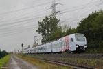 429 104 + 429 105 als RE 12537 Trier Hbf - Mannheim Hbf (Sdl.Testfahrten FLIRT), Ensdorf 13.08.14