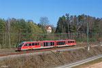"""642 160/660 """"Hauenstein (Pfalz)"""" als RB 12919 Pirmasens Hbf - Saarbrücken Hbf am 09.03.14 in Rohrbach(Saar)"""