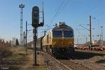 ECR 77 008 mit EZ 47253 (Gretz-Armainvilliers) Forbach/F - Mannheim Rbf Gr.M am 11.03.14 in Forbach Triage