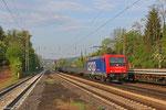 SBB Cargo 482 044 (i.E. für HSL Logistik) mit DGS 83865 nach Neunkirchen (Saar) Hbf am 24.04.14 in Dudweiler