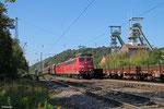 DT RBH 261 (151 038) + RBH 275 (151 147) mit GM 60498 Ensdorf - Neunkirchen(Saar) Hbf  , Luisenthal(Saar) 03.10.14