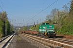 LDS 293 511 mit DBV 94251 Saarbrücken Rbf Nord - Dudweiler (Sdl. Baustellenlogistik) , am 10.04.14 in Dudweiler